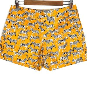 7th Avenue New York & Company Yellow Zebra Shorts
